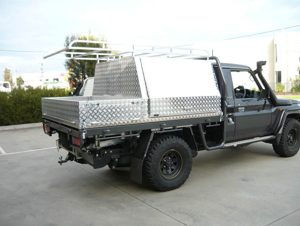 Custom half length tool box and lift off tray with gates - No 1 & Canopies u0026 Tool Boxes Melbourne Gallery - Aussie Tool Boxes