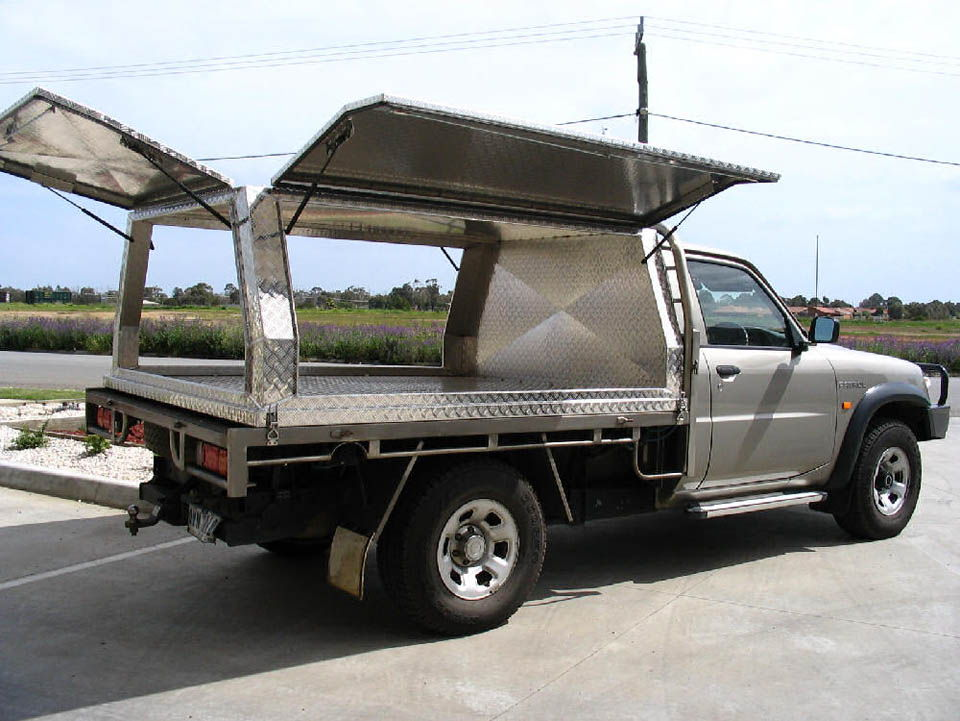 Three door aluminium canopy on Nissan Patrol - No.30 & Tool Boxes Melbourne Gallery Page 4 - Aussie Tool Boxes
