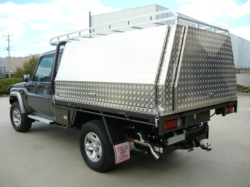 Three door lift off canopy on Toyota Land Cruiser - No.9 & Canopies u0026 Tool Boxes Melbourne Gallery - Aussie Tool Boxes